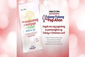 Spread light and joy through ABS-CBN Foundation's Tulong e-Christmas Cards