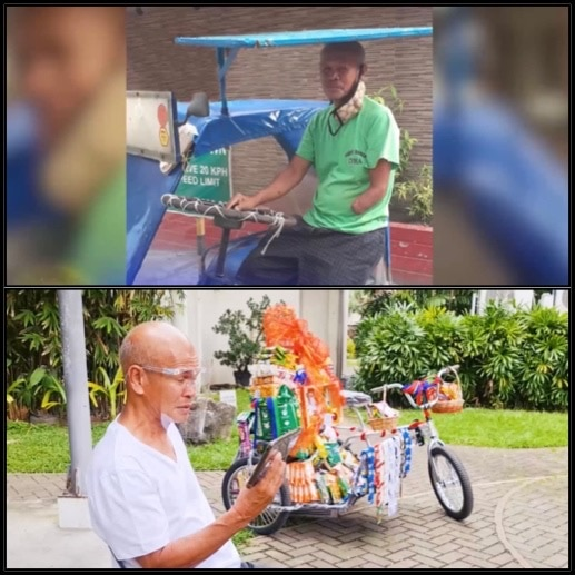 Rodolfo receives a new pedicab and a livelihood package before Christmas