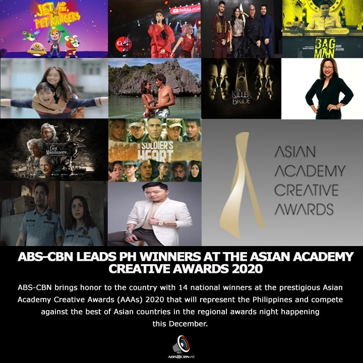 ABS CBN LEADS PH WINNERS AT THE ASIAN ACADEMY CREATIVE AWARDS 2020