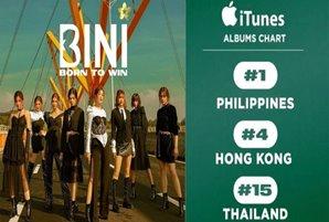 "BINI's ""Born to Win"" debut album peaks at no. 1 on iTunes Philippines"