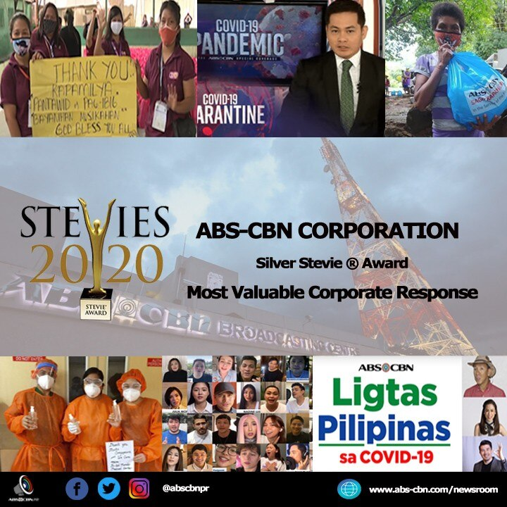 Artcard 2   ABS CBN'S COVID 19 RESPONSE WINS STEVIE AWARD