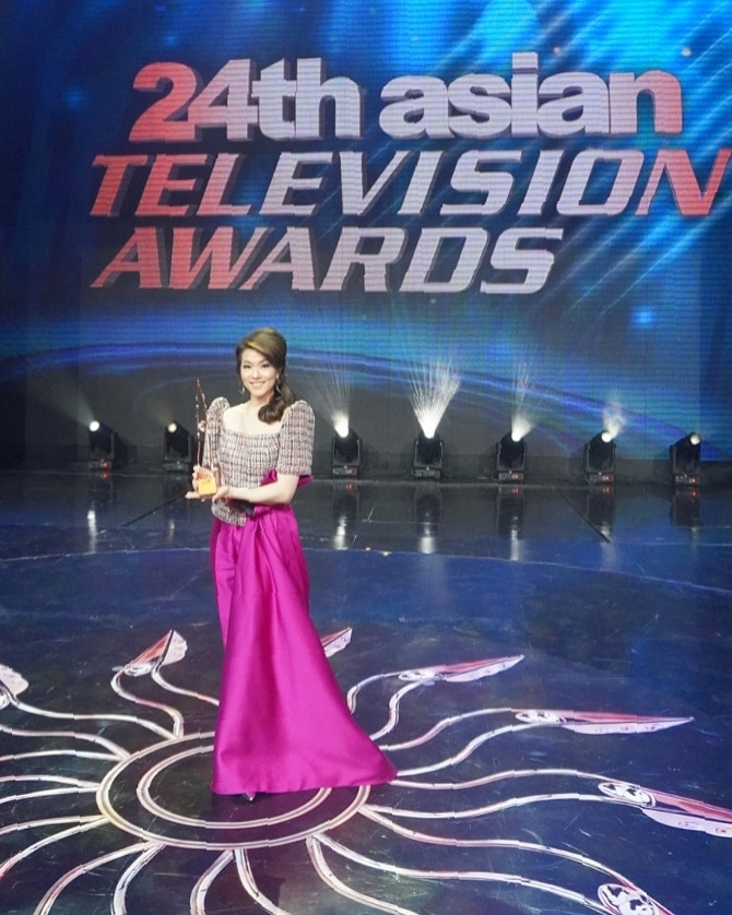 Cathy Yang got her fourth trophy at the Asian TV Awards, and her first for her work in the country_1