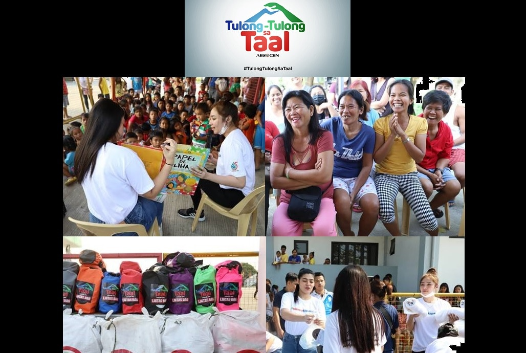 "Kapamilya love reaches Taal evacuees in ABS-CBN's ""Tulong-Tulong Sa Taal"" campaign"