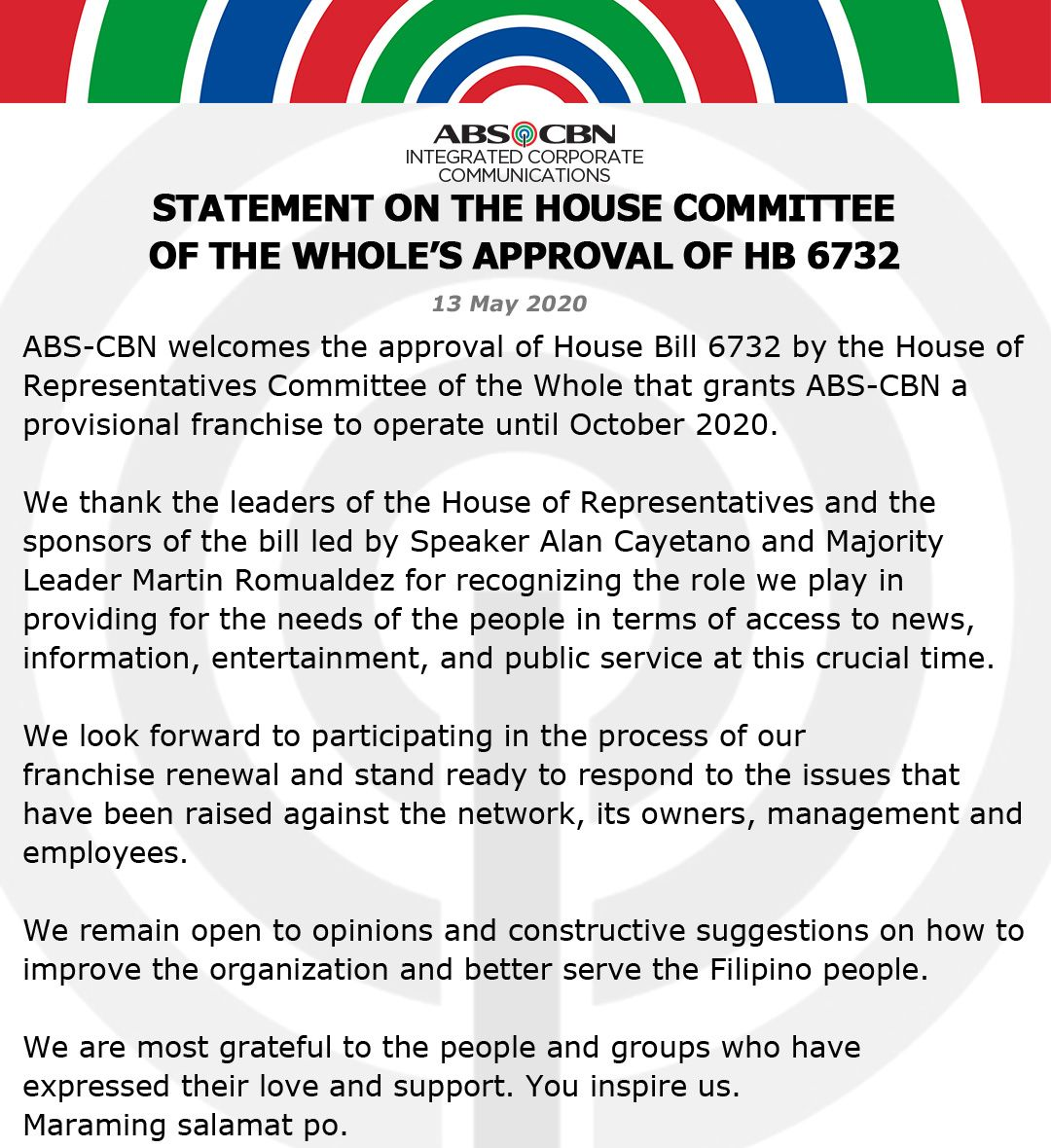 Artcard Statement on the House Committee of the Whole approval of HB 6732