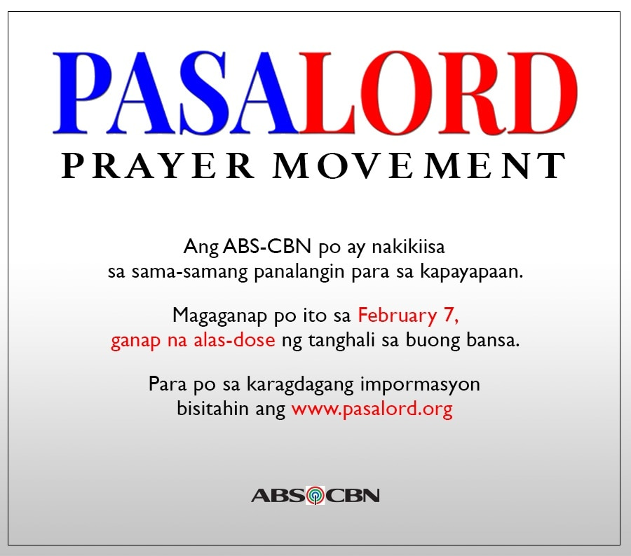 ABS CBN supports PasaLord