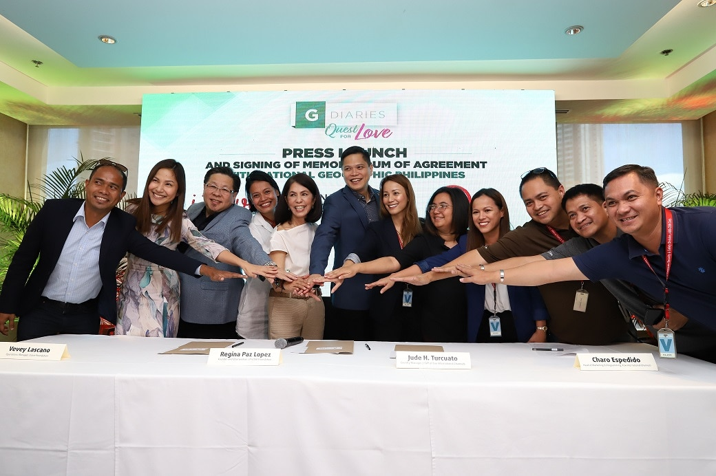 Gina Lopez with partners of I LOVE Foundation and G Diaries_