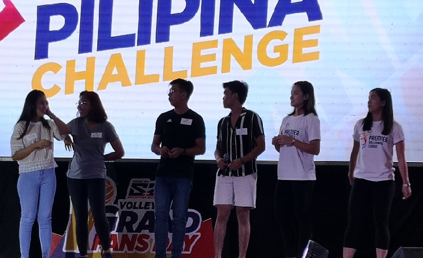 Players and fans engaged in fun games like the Dalagang Pilipina challenge