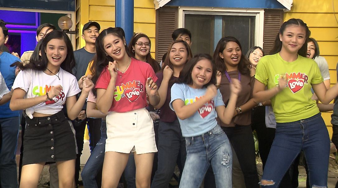 PBB teens Karina, Kaori, Lie, and Jelay