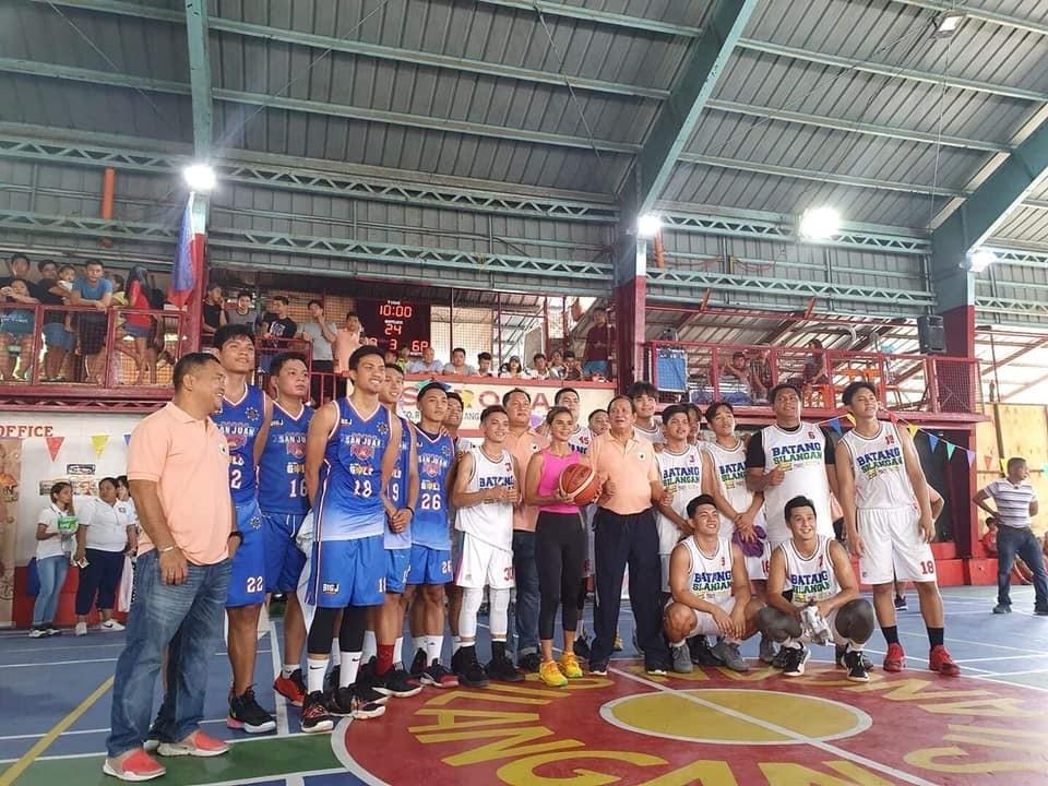 Nakalaro ng Batang Silangan ang kampeon ng MPBL na San Juan Knights sa kanilang pinagandang basketball court