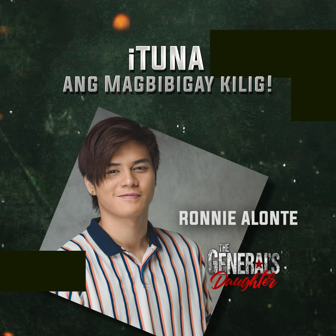 Ronnie Alonte of hit primetime teleserye The General's Daughter will join Kapamilyas in GenSan at the Tuna Festival