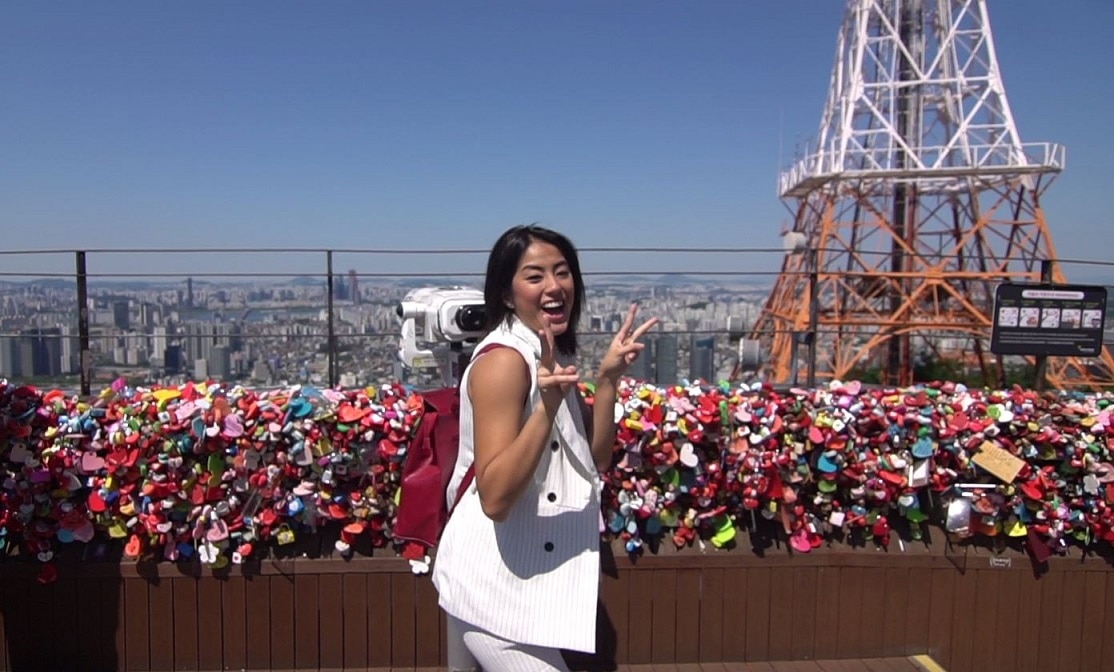 Gretchen visits the spot where couples leave their love locks
