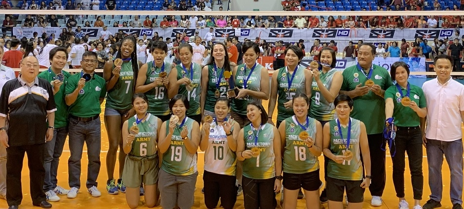 PacificTown Army won bronze in its first conference in the PVL