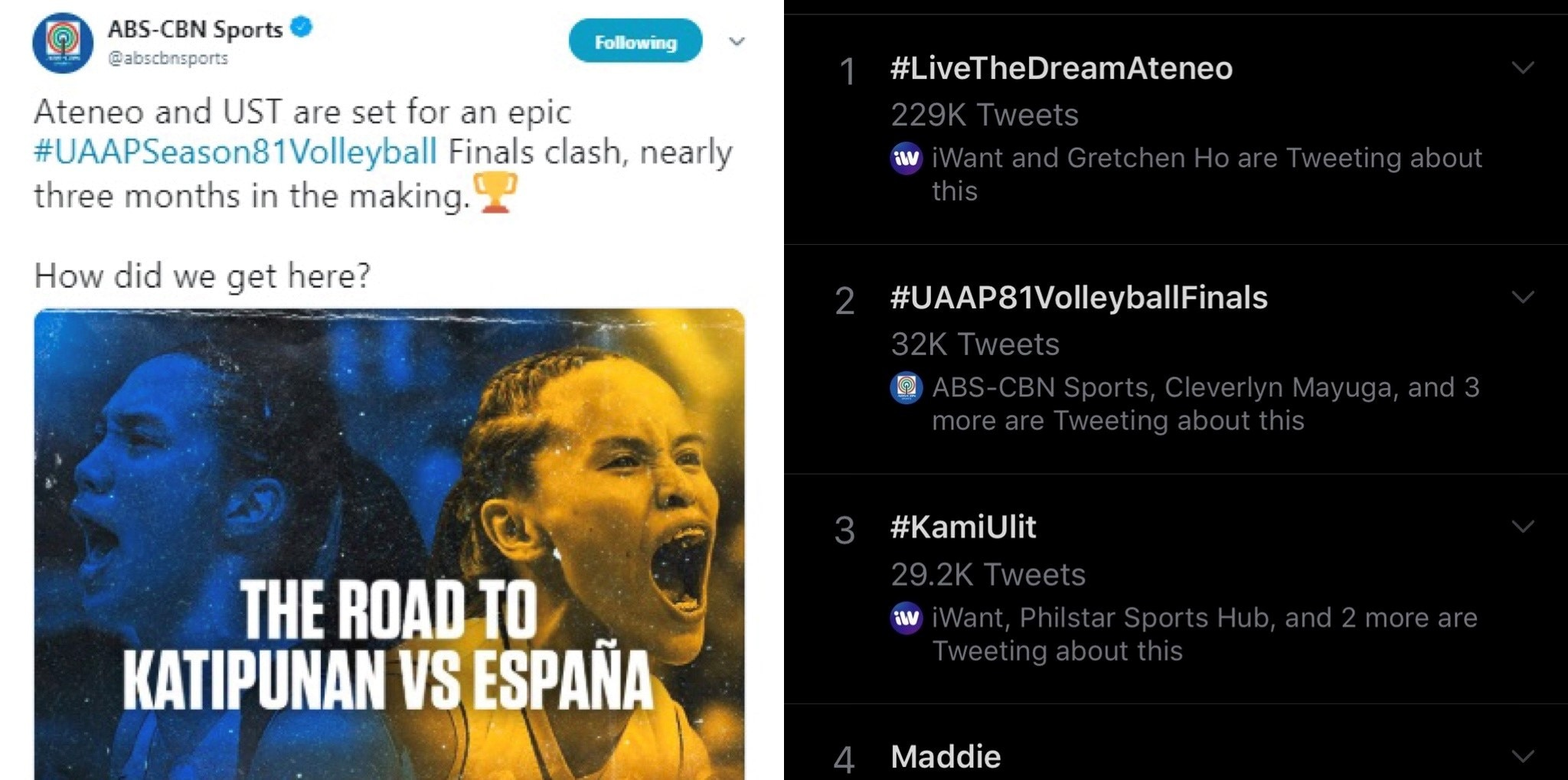 UAAP volleyball soars anew in Twitterverse