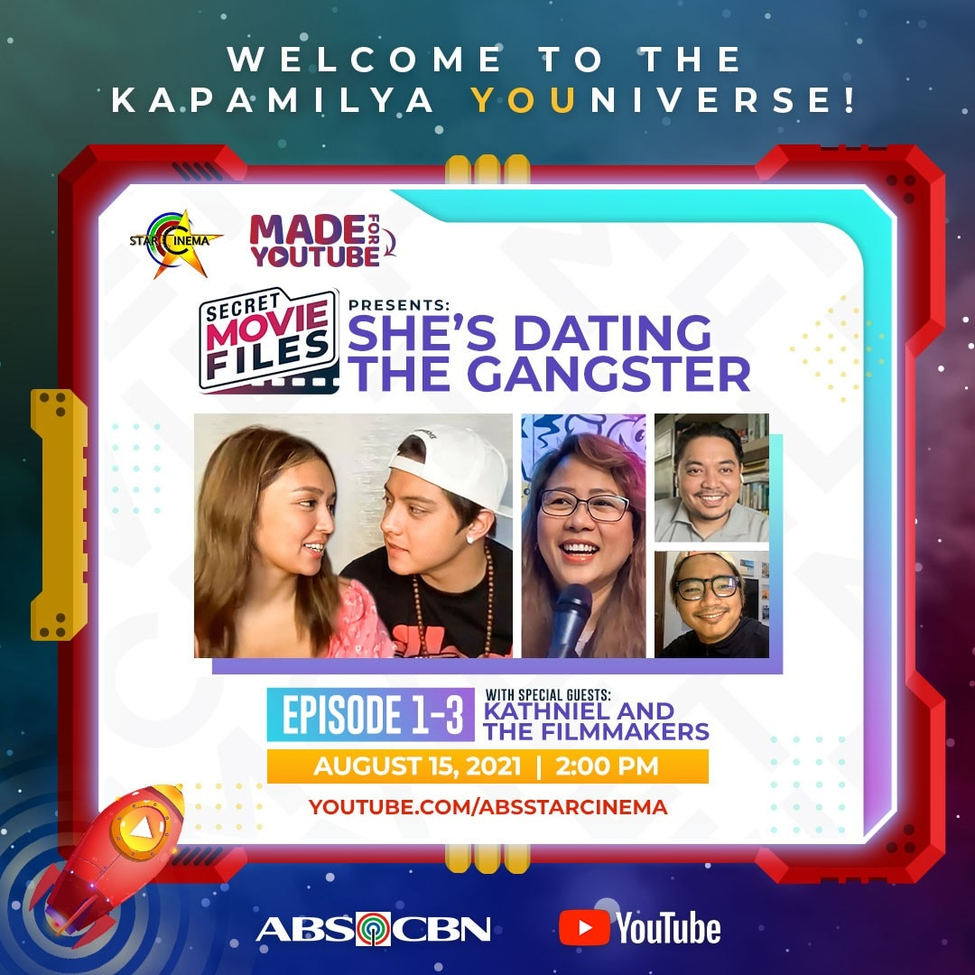 Artcard Secret Movie Files Presents She's Dating the Gangster with KathNiel on Star Cinema's YouTube channel
