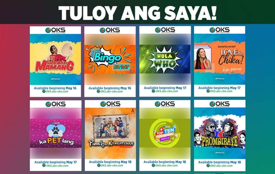 ABS-CBN brings joy and relief to Filipinos in all-new Online Kapamilya Shows