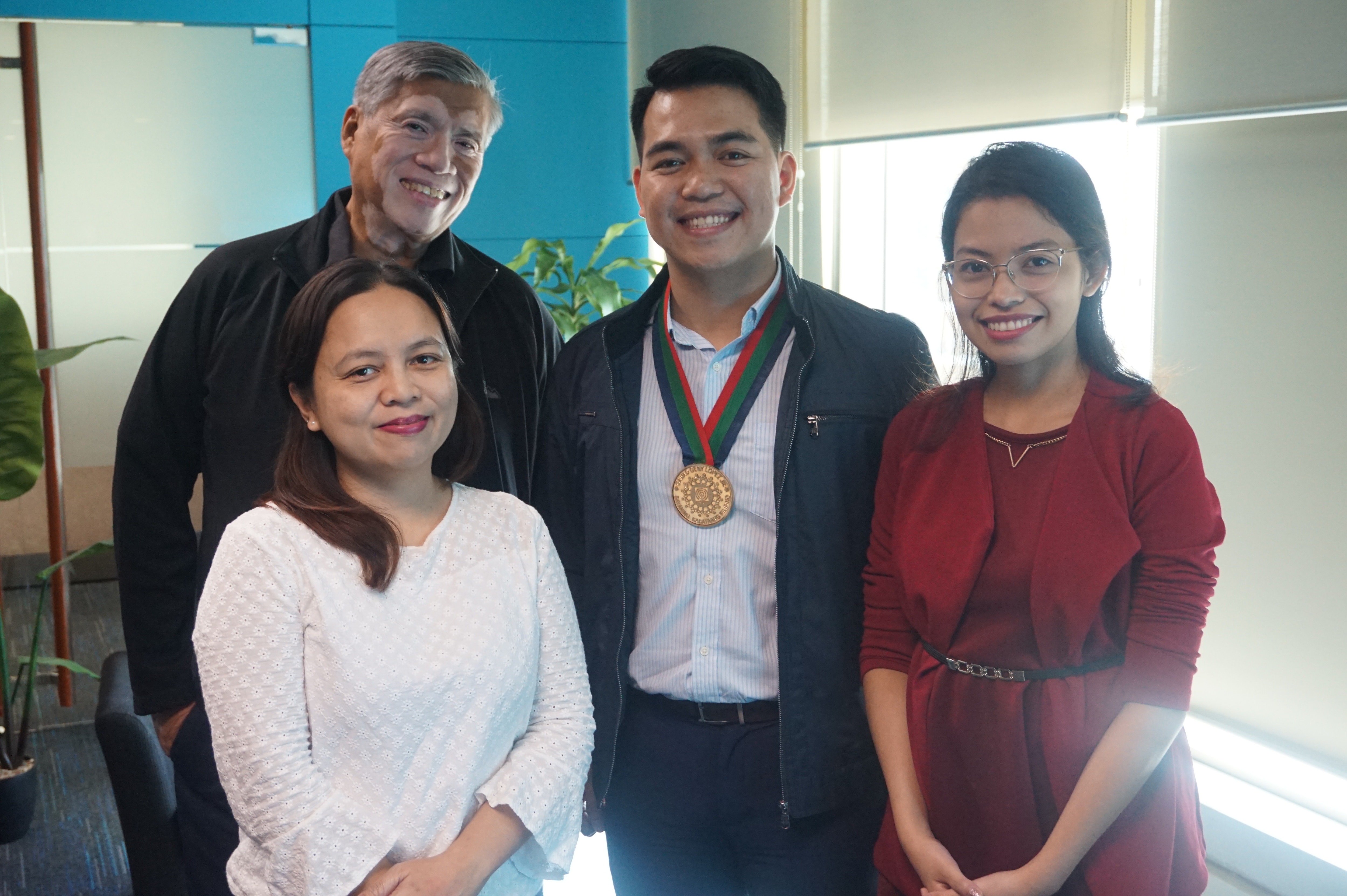 Fr Nilo Tanalega, Rolly Melendrez, Marinela Eden, and Eah Antonio