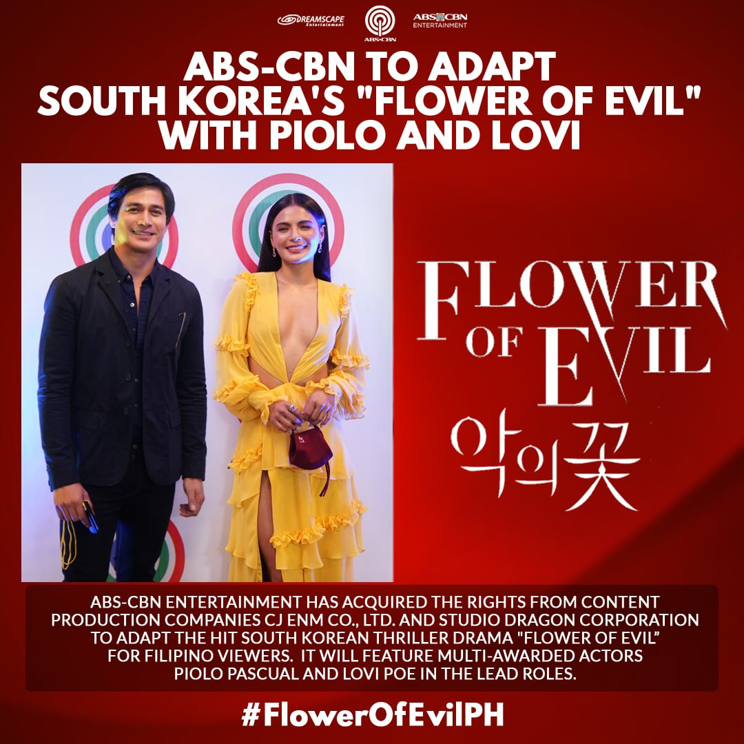 """Artcard ABS CBN to produce local adaptation of Flower of Evil"""" starring Piolo Pascual and Lovi Poe"""