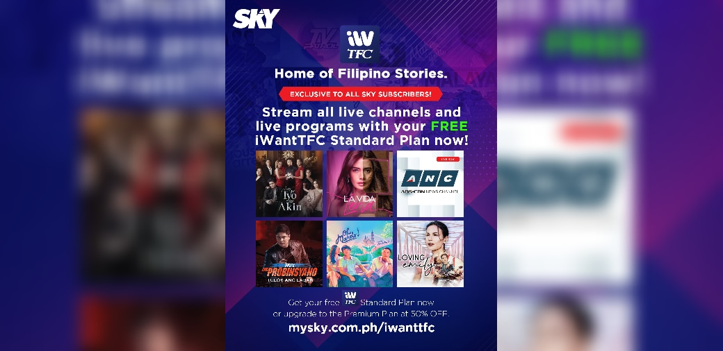 SKY postpaid subscribers get free iWantTFC standard plan subscription