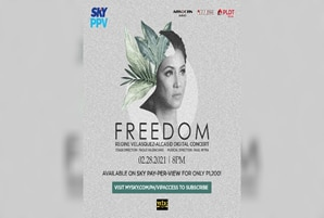 "Regine promises new repertoire and surprise guest in ""Freedom"" concert on SKY Pay-Per-View"