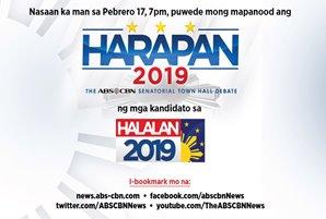 "Senate aspirants face off in ""Harapan 2019: The ABS-CBN Senatorial Town Hall Debate"""
