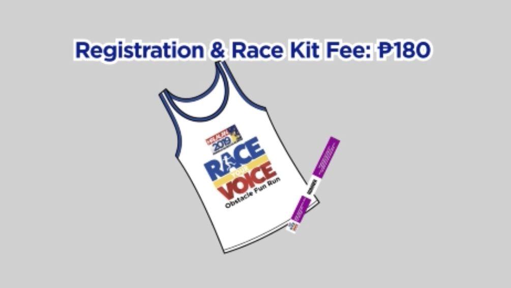 Race Your Voice race kit