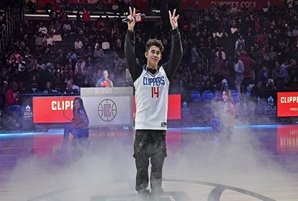 Inigo fulfills childhood dream, performs before sold-out crowd at LA Clippers' Filipino Heritage Night