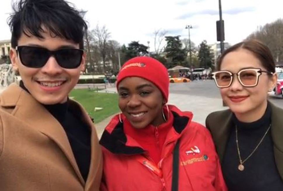 African fan shows love for Enchong and Maja in chance encounter in Paris