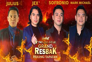 "Jex, Julius, Mark Michael, and Sofronio in ""Tawag ng Tanghalan"" grand resbak finals"