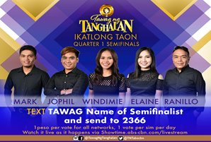 "Five semifinalists battle for vocal supremacy in ""Tawag ng Tanghalan"" semifinals"