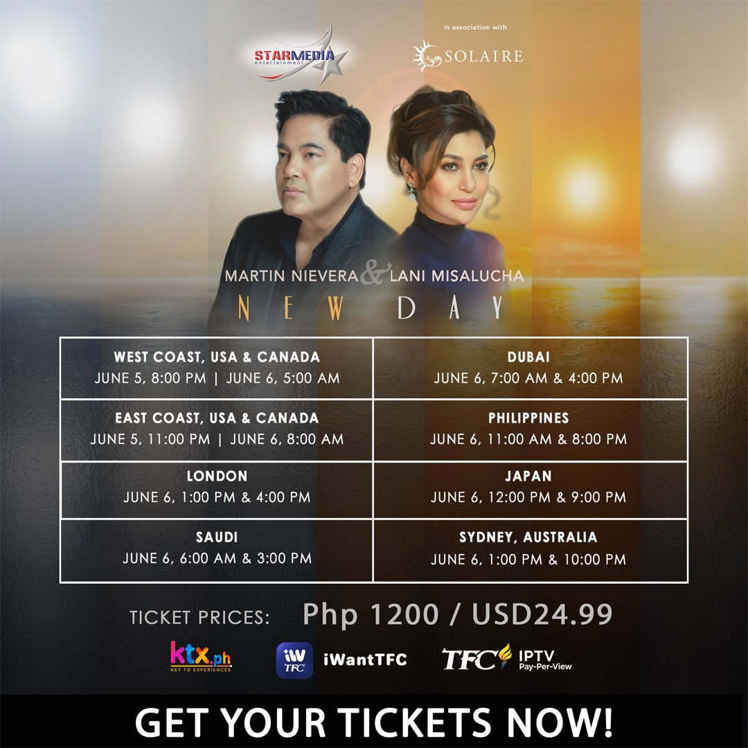 Martin and Lani's New Day digital concert streams on iWantTFC this June 6