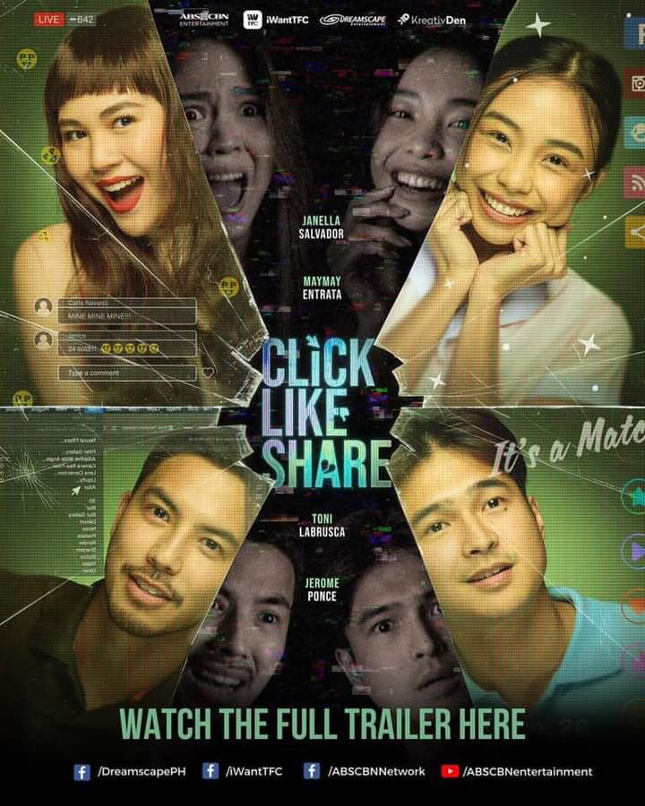Click, Like, Share starring Janella Salvador, Barbie Imperial, Jerome Ponce, Tony Labrusca, and Maymay Entrata (2)