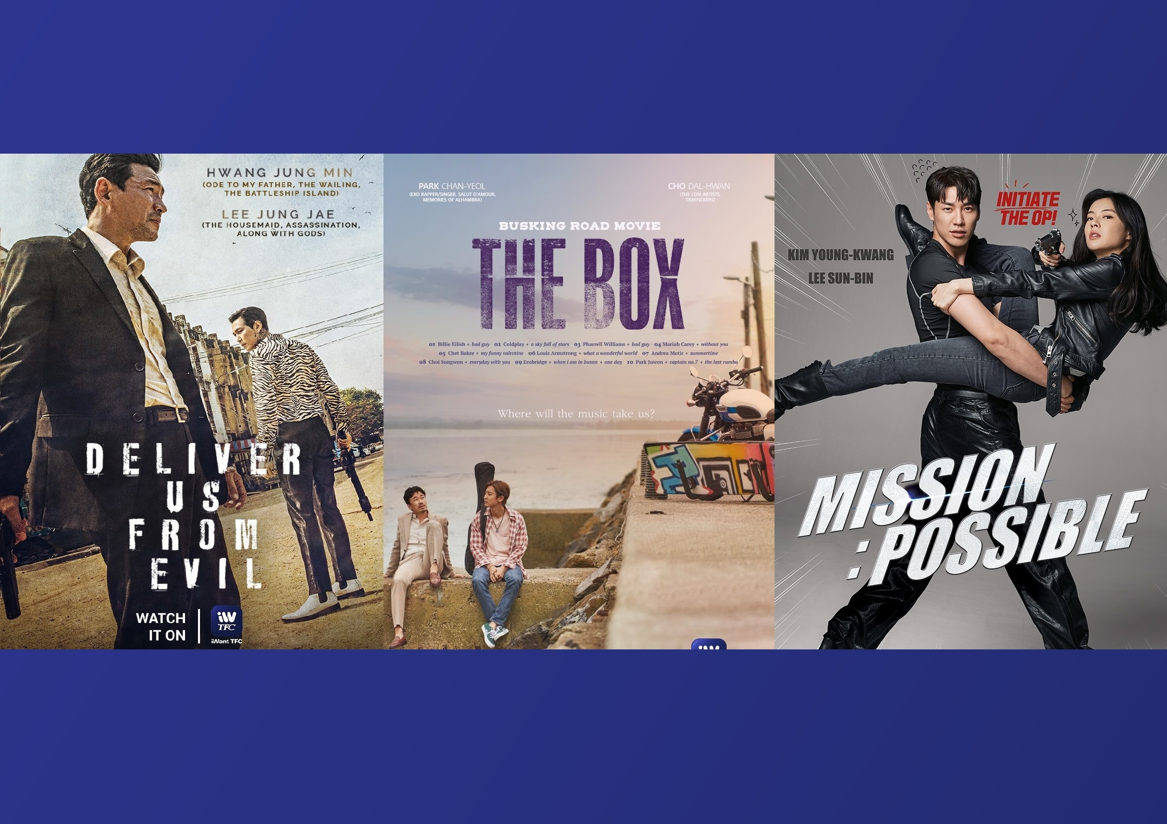 """South Korea's """"Deliver Us From Evil,"""" """"The Box,"""" and """"Mission: Possible"""" premiere in PH on iWantTFC"""