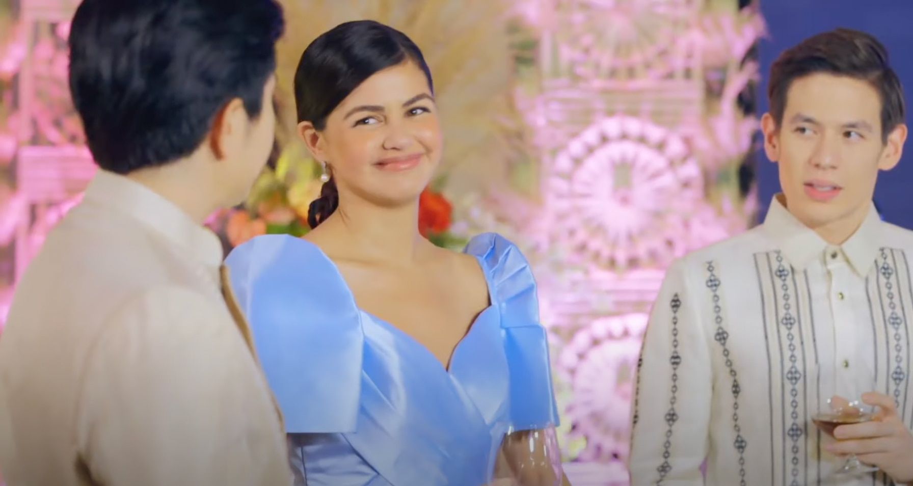 Cedric (Jake Ejercito) gets jealous of Camille and Andrei (Janine Gutierrez and Paulo Avelino)
