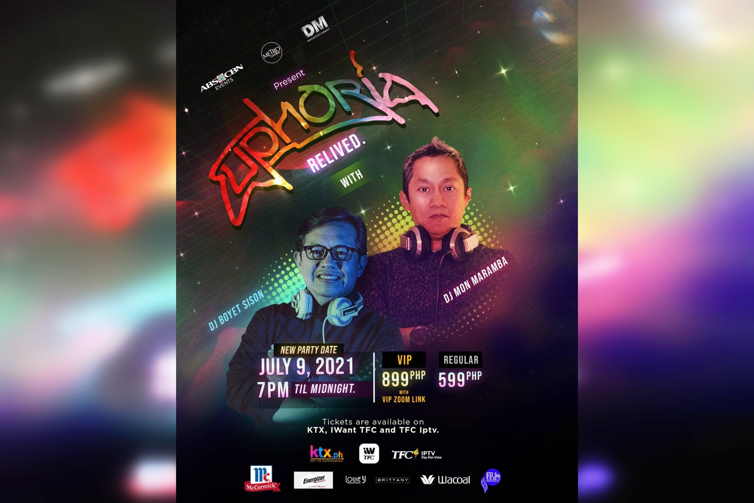 """Throwback disco party """"Euphoria Relived"""" moved to July 9"""
