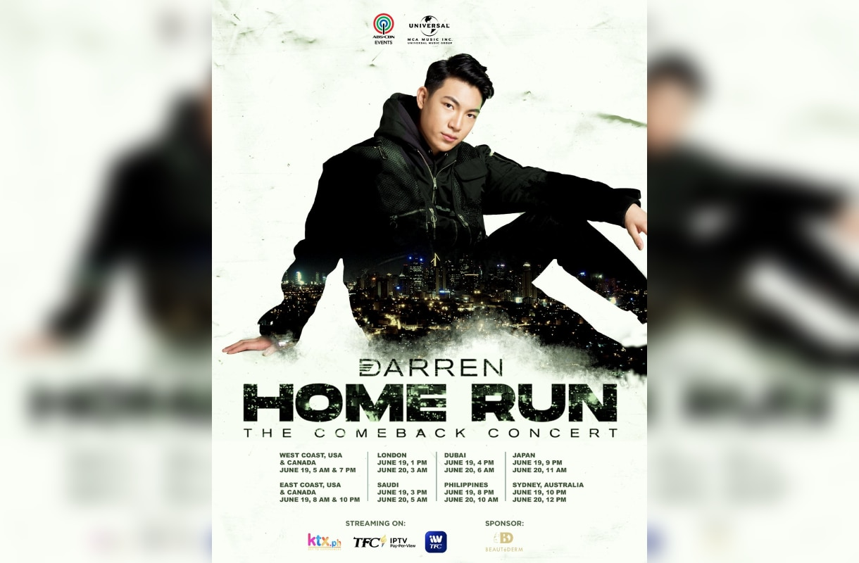 """Darren, ready to hit a """"home run"""" in his concert on June 19 & 20"""