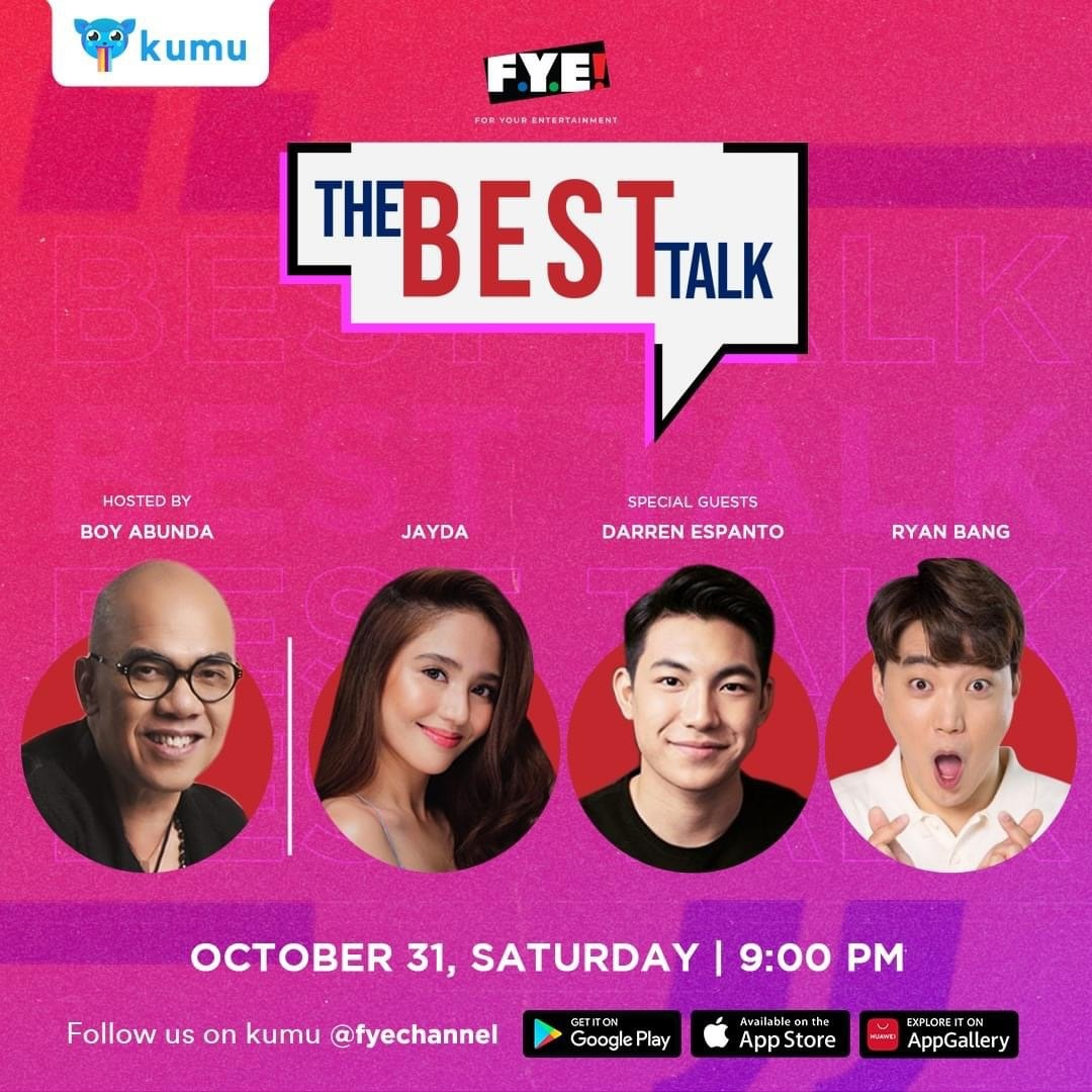 The Best Talk with guests Jayda, Darren Espanto, and Ryan Bang