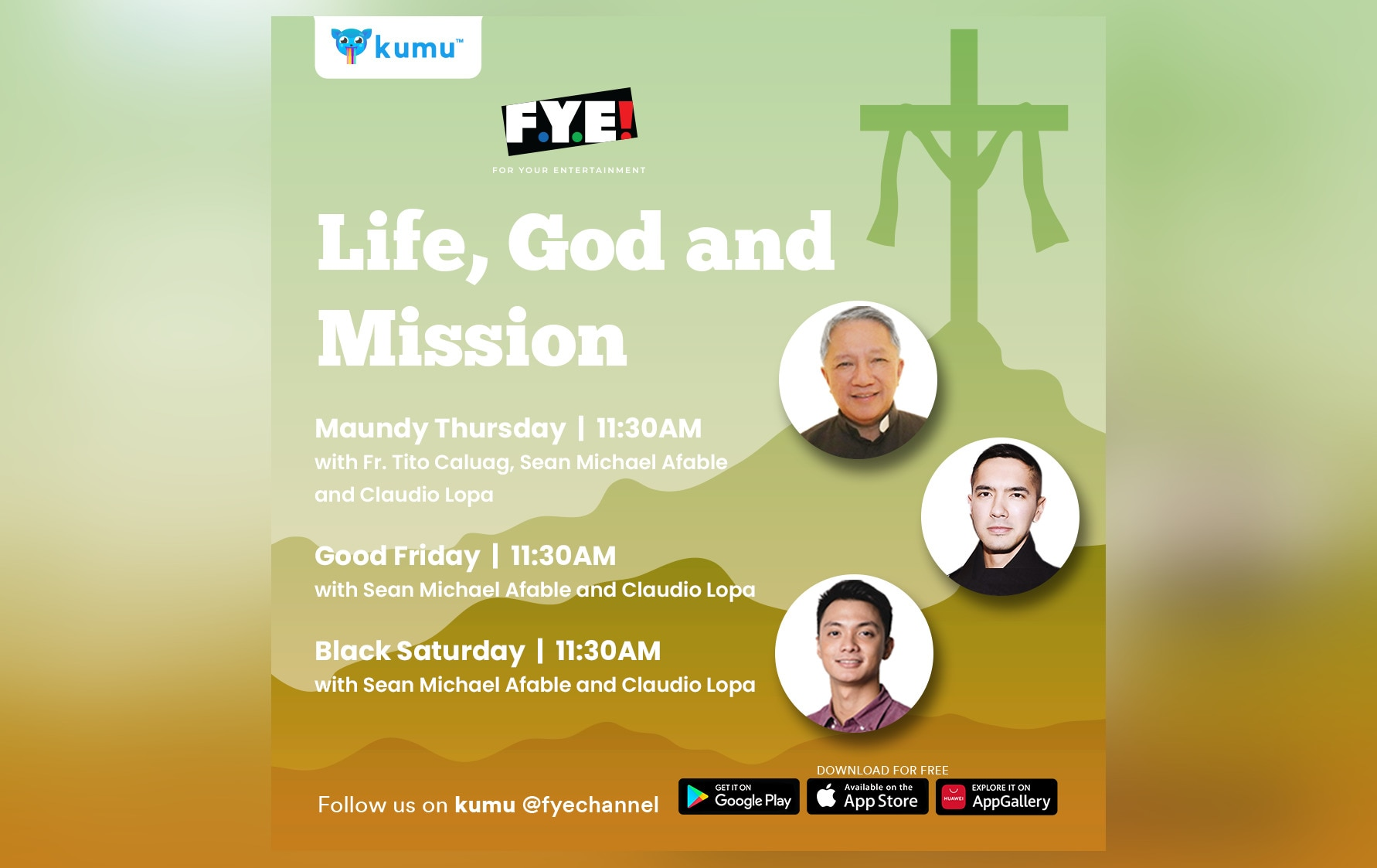 """FYE Channel brings """"Life, God and Mission"""" reflection series on kumu"""