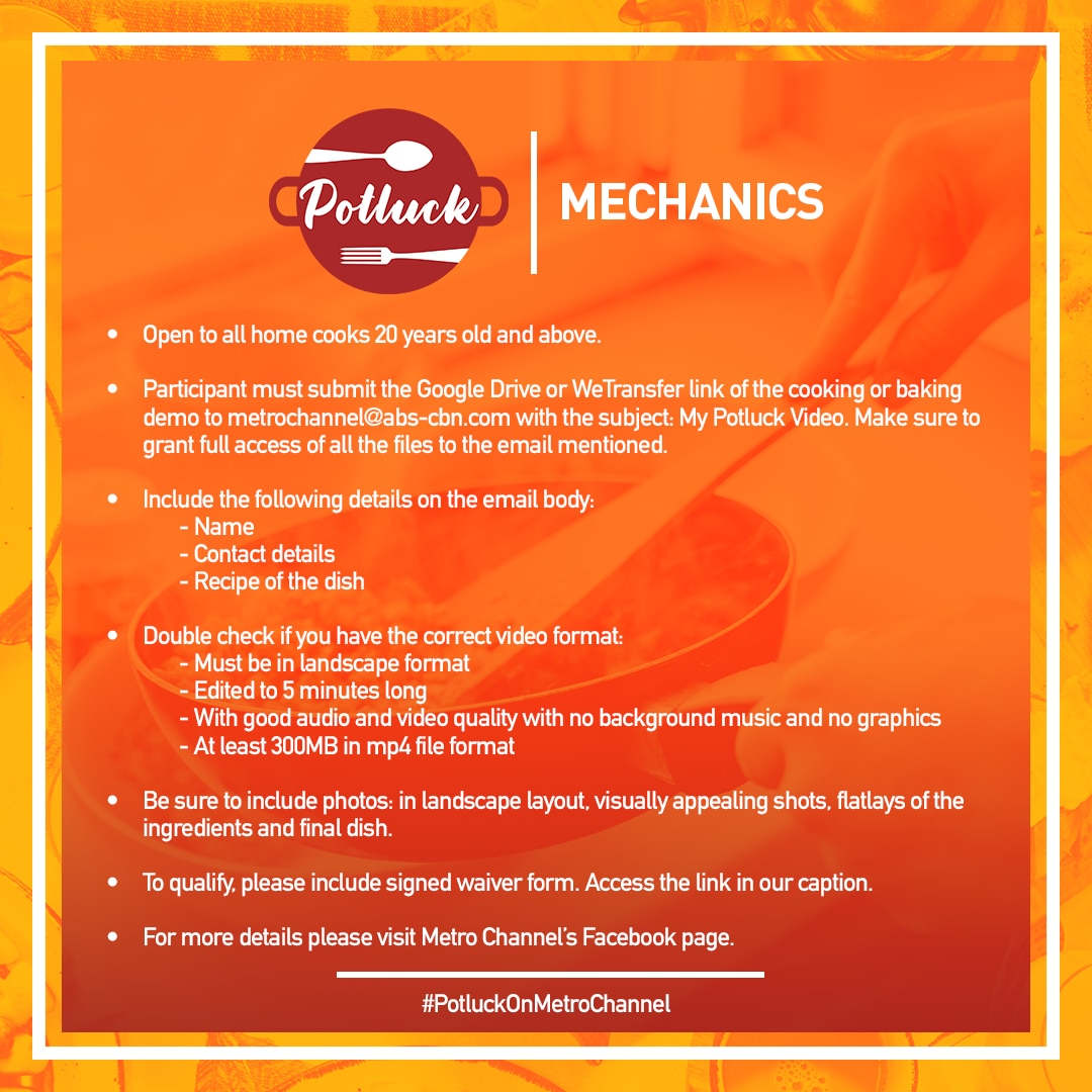 Metro Channel Potluck mechanics