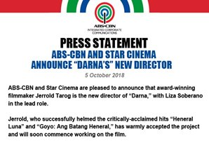 "ABS-CBN and Star Cinema announce ""Darna's"" new director"
