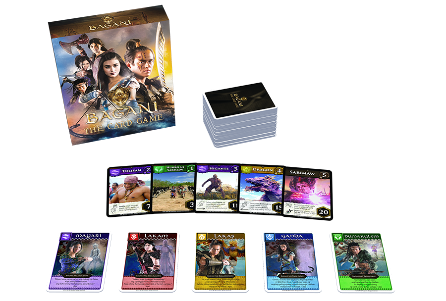 Bagani characters in the new ABS CBN card game