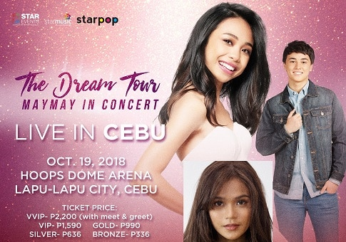 Maymay, all set for her 'Dream Tour' in Cebu