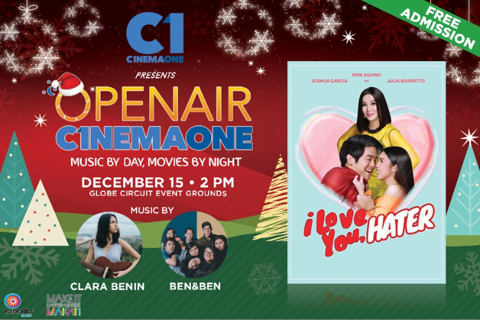OpenAir Cinema One Dec 15 in Globe Circuit Grounds