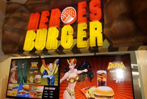 "Try the new Pinoy Komiks-themed organic ""Heroes Burger"" at ABS-CBN Studio XP"