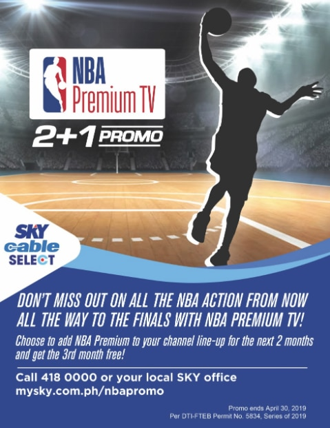 NBA Premium on SKY: subscribe for 2 months, get one month free