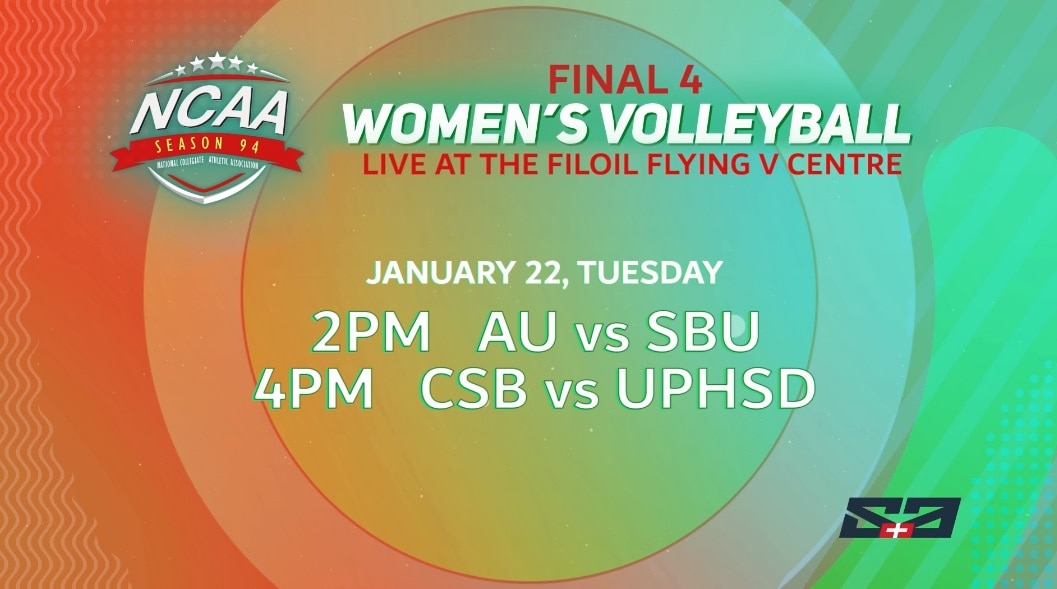 NCAA Women's Volley semis airs LIVE on ABS-CBN S+A