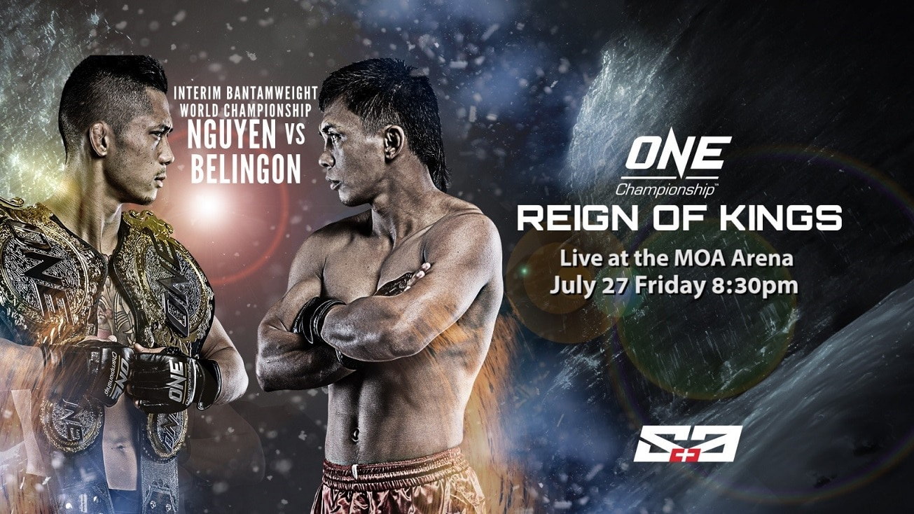 _ONE Reign of Kings airs live on ABS CBN Sports and Action this Friday