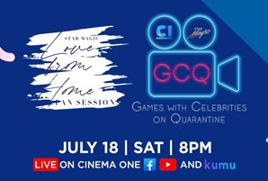 "Cinema One and Star Magic give fun twist to ""GCQ"" in virtual game event"