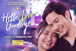 "Blockbuster hit ""Hello, Love, Goodbye"" debuts on Cinema One this Sunday"