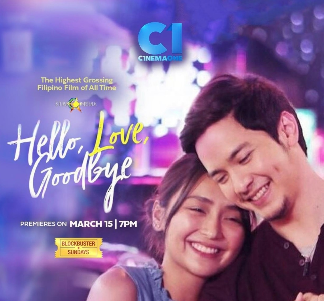 Hello Love Goodbye premieres on Cinema One this Sunday, March 15