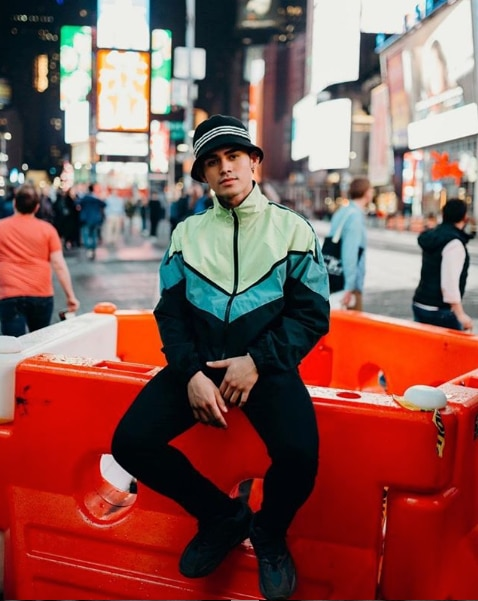 Inigo Pascual in New York (courtesy of @inigopascual on Instagram)